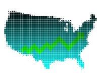 Hochkonjunktur in den Vereinigten Staaten lizenzfreie abbildung