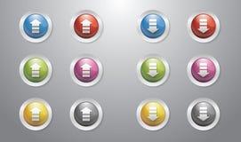 Hochladen Sie und downloaden Sie Tasten Lizenzfreies Stockbild