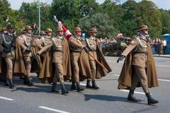 Hochland-Brigade (Podhale-Gewehre) Stockfotos