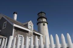 Hochland-Leuchtturm bei Cape Cod, Massachusetts Stockbilder