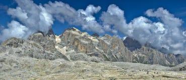 Hochland Paledi San Martino, Dolomit Stockfotos