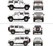 Hochleistungs-SUV großer LKW stockfotos