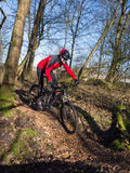 Hochmoderne elektrisch betriebene Mountainbike lizenzfreie stockfotografie