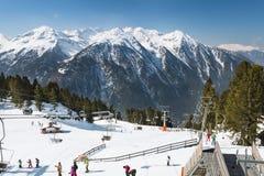 Hochoetz góry stacja, Austria, artykuł wstępny Zdjęcie Stock