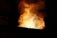 Hochofen-Flamme Lizenzfreie Stockbilder