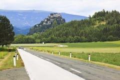 Hochosterwitz城堡在克恩顿州,奥地利 图库摄影