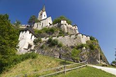 Hochosterwitz, Austria, Vienna. Hochosterwitz castle and church , Austria, Vienna Royalty Free Stock Photography