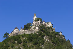 Hochosterwitz castle, Austria. And the blue sky Royalty Free Stock Images