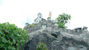 Hochosterwitz Castle in Austria stock video footage