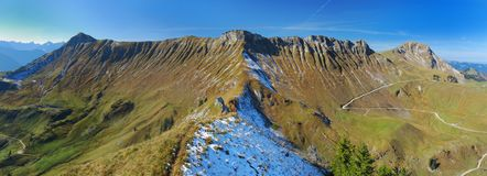 Hochplatte - montagna Ridge nelle alpi Fotografie Stock Libere da Diritti