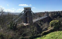 Hochrangige Ansicht von Clifton Suspension Bridge stockfotografie