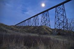 Hochrangige Brücke Lethbridge Lizenzfreie Stockfotografie