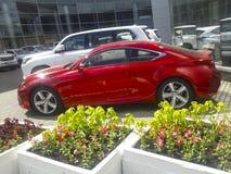 Hochrotes Lexus Lizenzfreie Stockfotografie