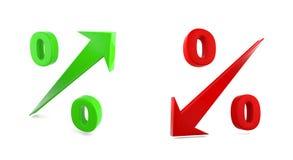 Hochs und Tiefs-Prozentrate Lizenzfreie Stockbilder