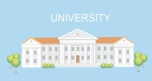 Hochschul- oder Collegegebäude Campusdesign, Staffelungsuniversität, Vektor Stockfotos