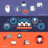 Hochschulausbildungs-Fahnen-Satz Lizenzfreie Stockfotos