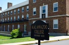 Hochschulcampus Michigan-Kalamzoo Lizenzfreie Stockbilder