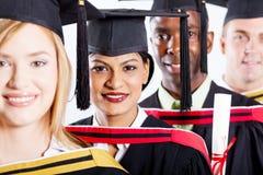 Hochschule graduiert Nahaufnahme Lizenzfreie Stockfotos