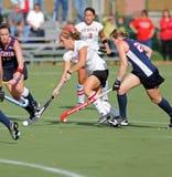 Hochschulfeld-Hockey - Damen Stockfoto