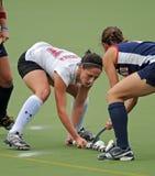 Hochschulfeld-Hockey - Damen Lizenzfreie Stockfotos
