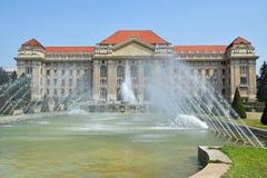Hochschulgebäude, Debrecen Stockbild