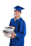 HochschulStudent im Aufbaustudiumen-Holding-Bücher Lizenzfreies Stockfoto
