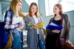 Hochschulstudenten auf einem Treppenhaus Stockfotografie