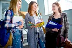 Hochschulstudenten auf einem Treppenhaus Lizenzfreie Stockbilder