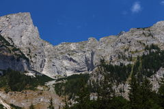 Hochschwab Mountains. View from the Hochschwab Mountains royalty free stock photo