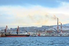 Hochseefischereihafen Stockbild