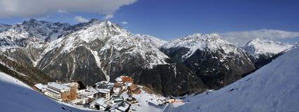 Hochsolden nelle alpi di Otztal Immagini Stock Libere da Diritti