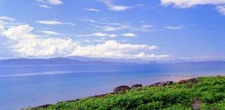 Hochsommer, Westküste von Schottland Stockfotografie