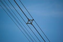 Hochspannung-Stromleitungen Stockbild