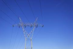 Hochspannungsfernleitungsmast 2 Stockfoto