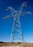 Hochspannungskraftübertragungskontrollturm Stockfotografie