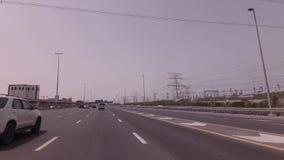 Hochspannungsleitungs-Station im Dubai-Vorratgesamtlängenvideo stock video