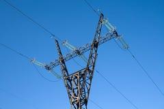 Hochspannungszeile Mast Stockbilder