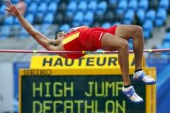 Hochsprung Decathlon Spanien Stockbilder