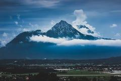 Hochstaufen i Zwiesel Halni szczyty Zdjęcie Royalty Free
