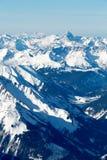 Hochvogel och Santis berg Royaltyfri Fotografi