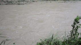 Hochwasser nach starkem Regen in Brisbane, Queensland stock video