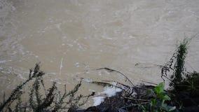 Hochwasser nach starkem Regen in Brisbane, Queensland stock video footage
