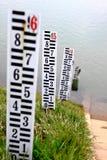 Hochwassermarkierungen stockfotos
