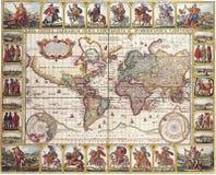 Hochwertige antike Karte Lizenzfreie Stockbilder