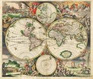 Hochwertige antike Karte Stockfotografie