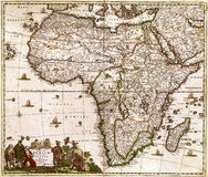 Hochwertige antike Karte Lizenzfreie Stockfotos