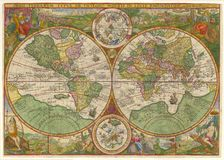 Hochwertige antike Karte Lizenzfreies Stockbild