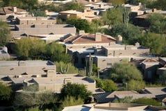 Hochwertige Wüsten-Häuser Stockfoto
