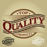 Hochwertiges Produkt - Weinlese-Dichtung Stockbild