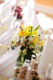 Hochzeit banguet Lizenzfreie Stockbilder